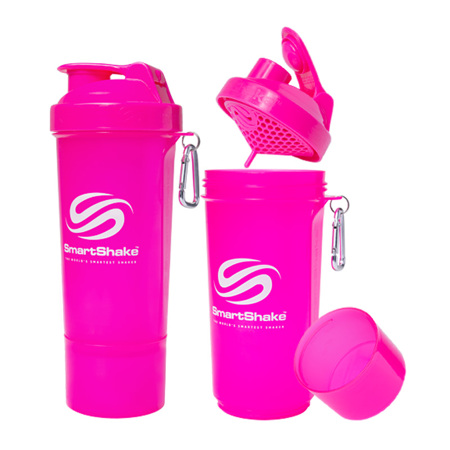 SmartShake Slim Neon Pink, 400 ml
