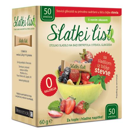Slatki list Stevia sa eritrolom, 50 vrećica