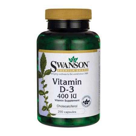 Vitamin D-3, 400 IU, 250 kapseln
