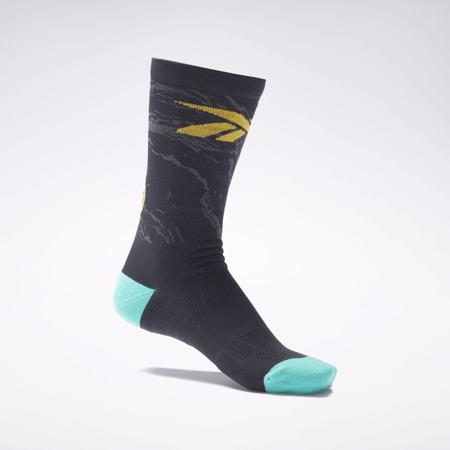 Reebok Tech Style Fury Crew Socks, 1 Pair, Black