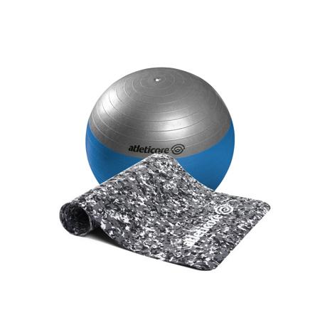 Atleticore, TPE Yoga Mat, Military + Pilates lopta 75cm s pumpom GRATIS