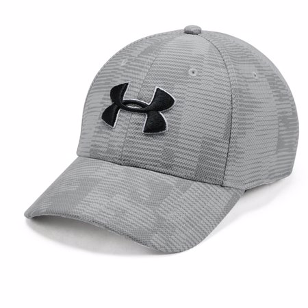UA Printed Blitzing 3.0 Stretch Fit Cap, Grey