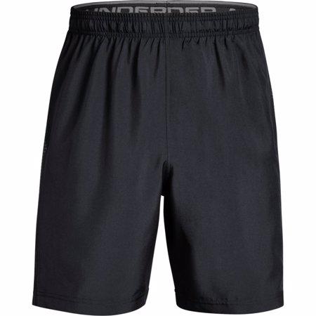 UA Woven Graphic Training Shorts, Black/Grey
