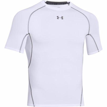 UA HeatGear Armour Short Sleeve Compression Shirt, White