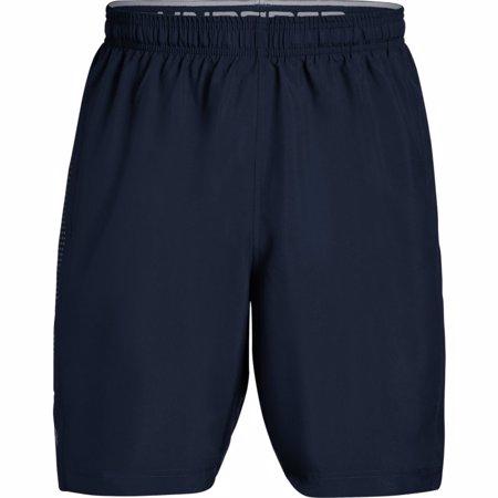 UA Woven Graphic Training Shorts, Navy/Grey
