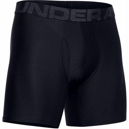 UA Tech Boxerjock 6 Inch (15cm) 2 Pack, Black