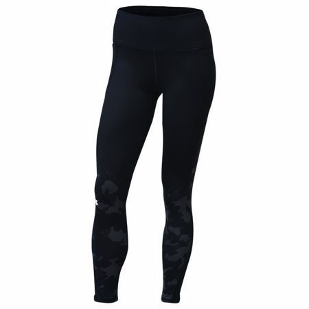 UA Women's ColdGear Armour Leggings, Camo Black/White