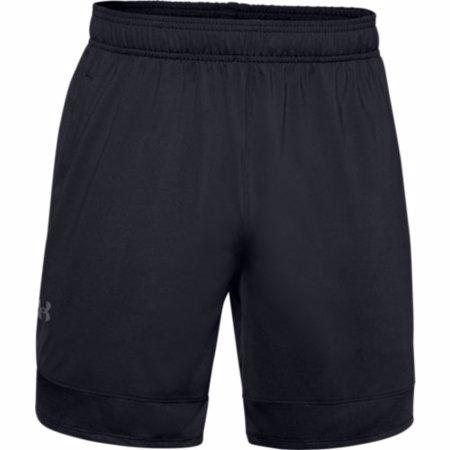 """UA Train Stretch 7"""" Shorts, Black/Pitch Grey"""