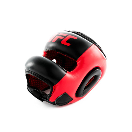 UFC PRO Full Face Head Gear, Red/Black