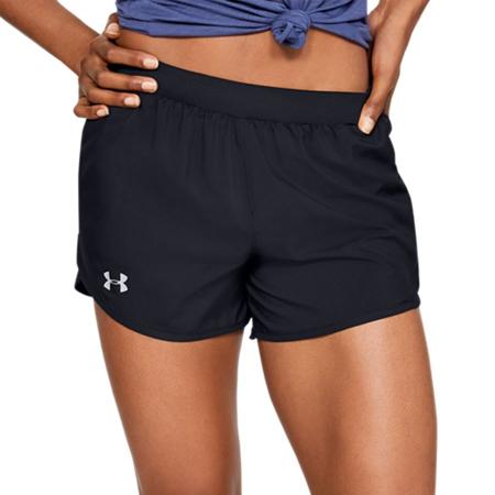 UA Fly By 2.0 Women's Shorts, Black/Reflective