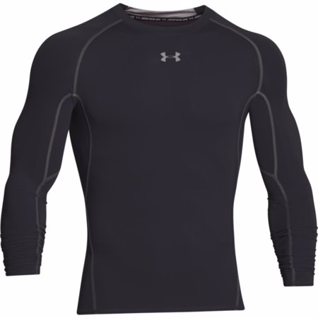 UA HeatGear Armour Long Sleeve Compression Shirt, Black