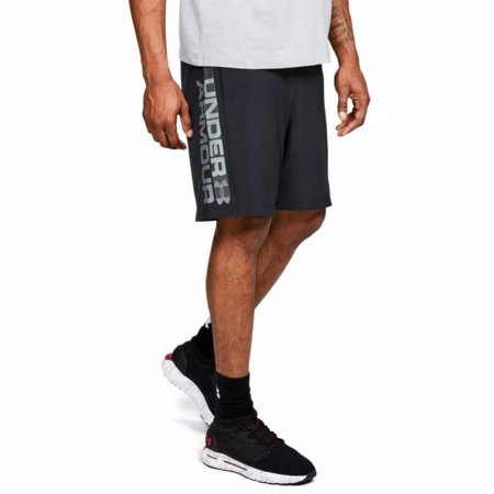 UA Woven Graphic Wordmark Shorts, Black/Gray