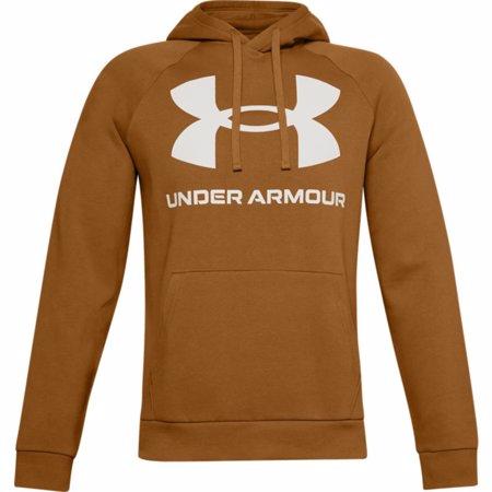 UA Rival Fleece Big Logo Hoodie, Yellow Ochre/Onyx White