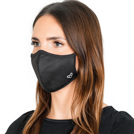 Zoe Base Face Mask, Black