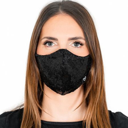 Zoe Stardust Face Mask, Black