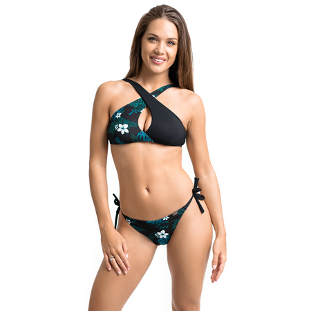 Tropical Vibe Swim Bra, Mint