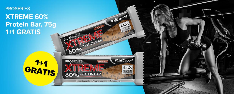 Proseries Xtreme 60% Protein Bar 1+1 GRATIS
