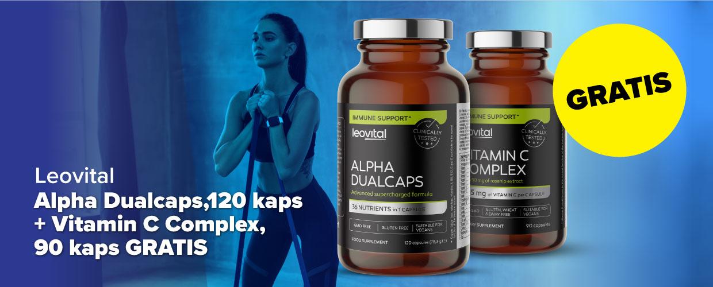 Alpha Dualcaps, 120 kapsula + Vitamin C