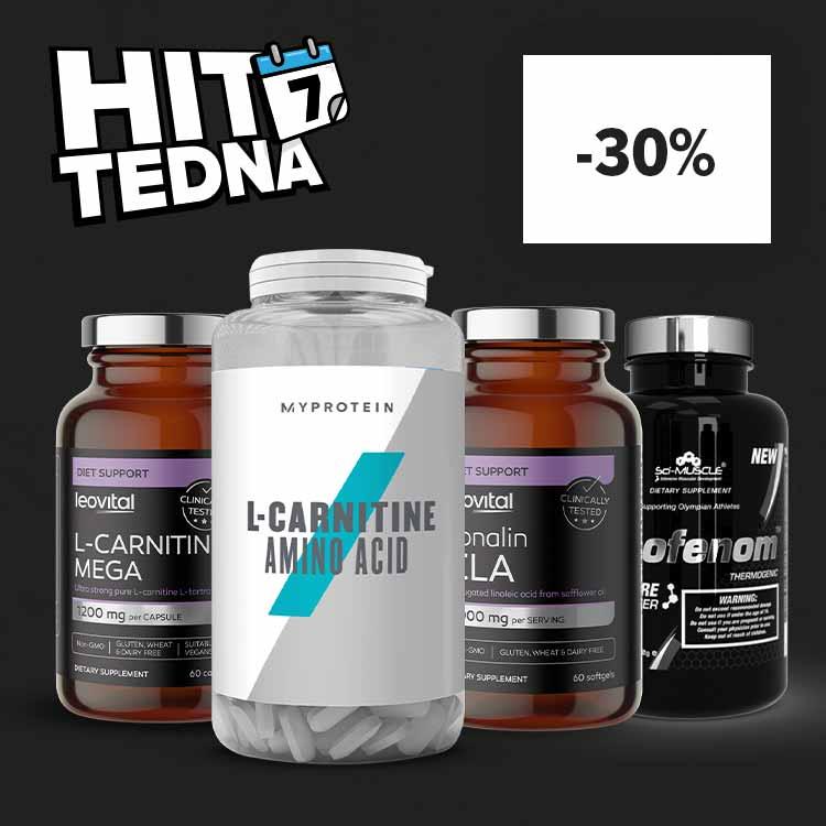 HIT TEDNA: Vsi Fat burnerji, L-carnitine in CLA - 30% znižani