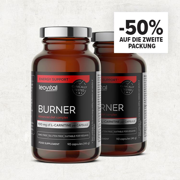 Burner, 90 Kapseln -50% auf die zweite Packung