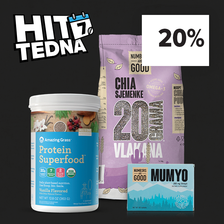 HIT TEDNA: Numbers Are Good in Amazing Grass - 20% znižano.