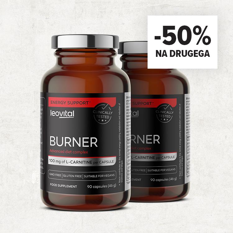 Burner 1 kupiš 2 dobiš -50 % ceneje