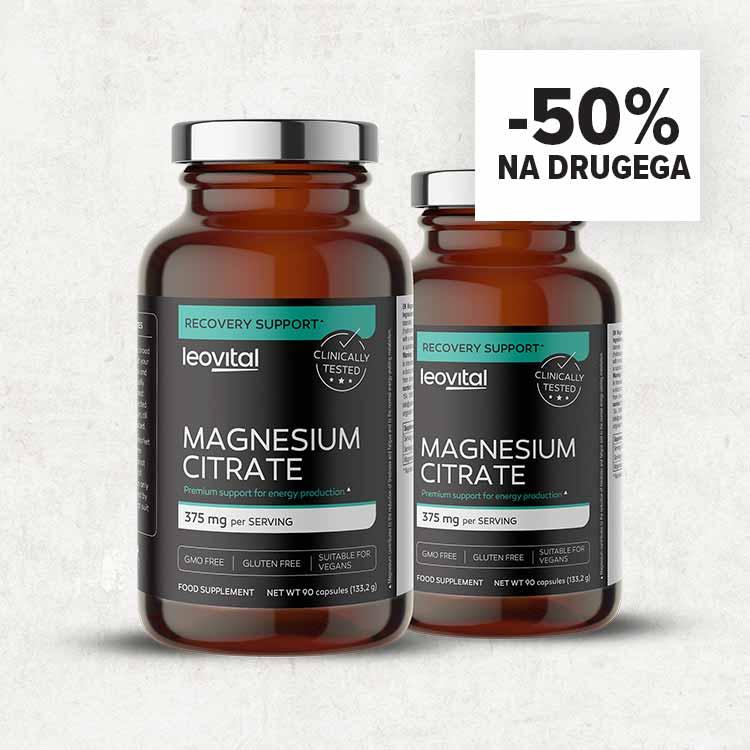 MAGNESIUM CITRATE, 90 KAPSUL <br> -50% NA DRUGI KUPLJENI