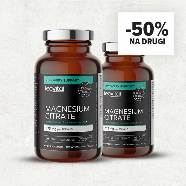 Magnesium Citrate, 90 kapsula -50% na drugi kupljeni!