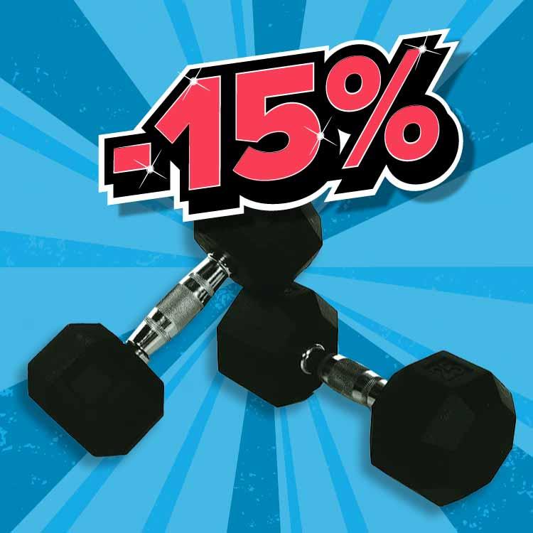 BACK2GYM Hex bučice -15%