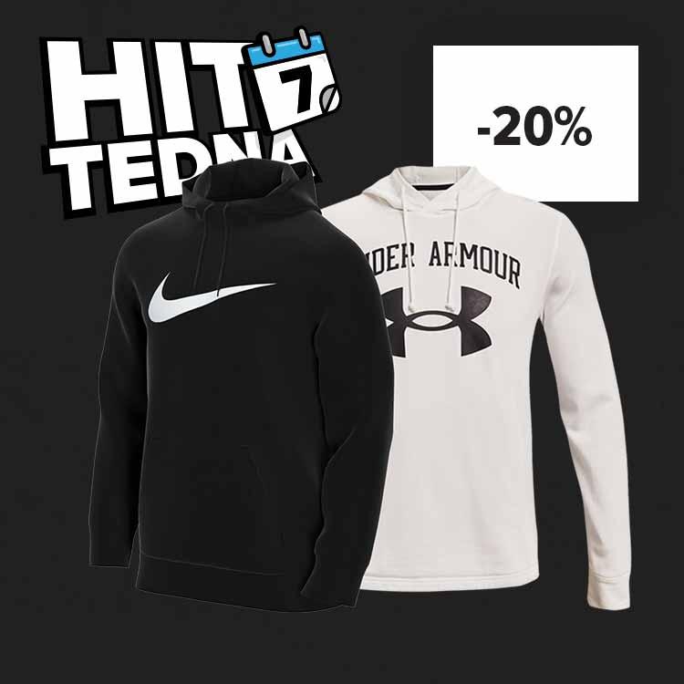 HIT TEDNA: Under Armour in Nike -20% znižano.
