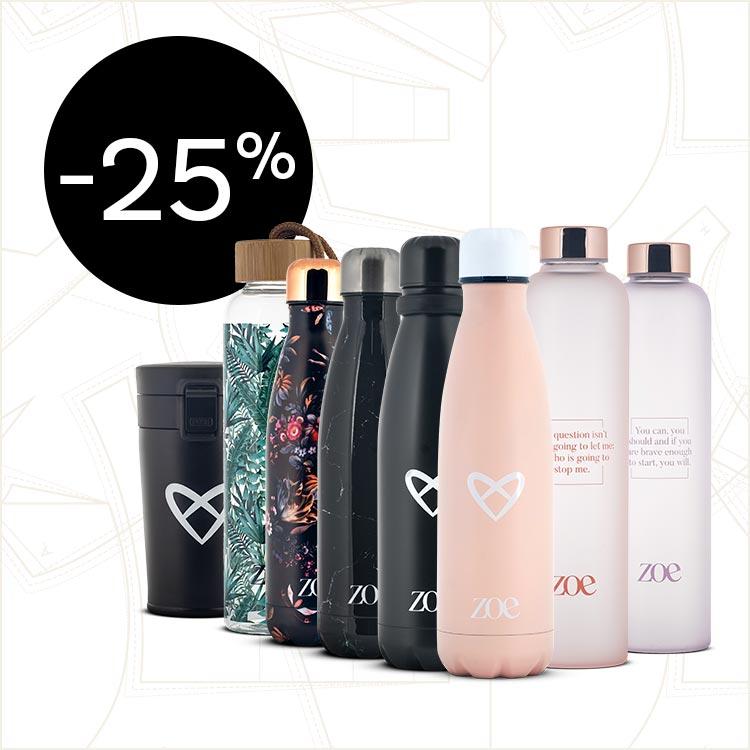 Zoe Flaschen um 25% reduziert