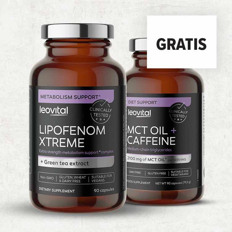 LIPOFENOM XTREME + <br> MCT OIL CAFFEINE GRATIS